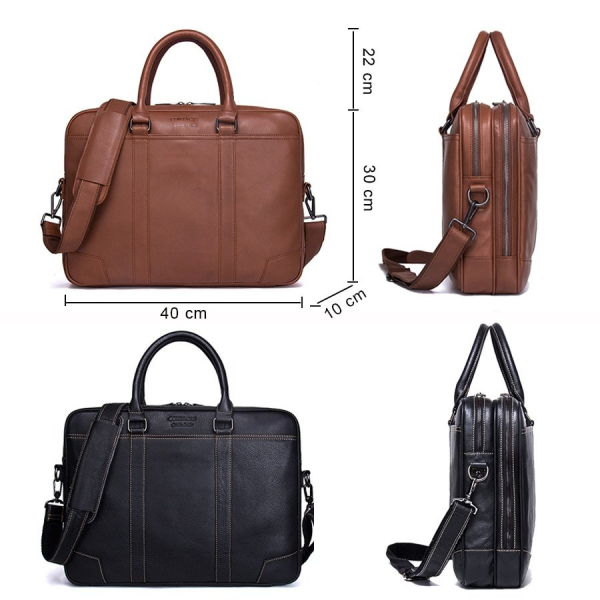 , Genuine Leather Large Business Laptop Shoulder Bag, Urbane London