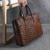 , Wmnuo – Men's Briefcase Bag Handbag Crocodile Pattern Cow Leather Laptop Shoulder Messenger Bag combination Lock, Urbane London