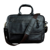 , Genuine Cowhide Leather Business Briefcase/Laptop Bag With Oxford Crossbody Strap, Urbane London, Urbane London
