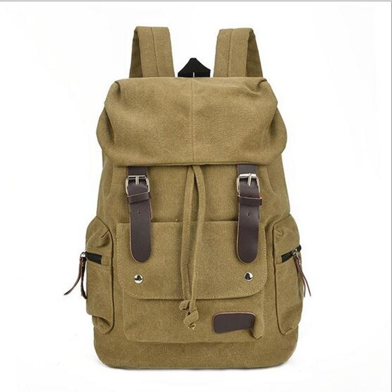 Men s Casual Canvas Travel Backpack Vintage Style Rucksack Travel ...