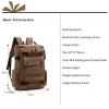 , Men Laptop Backpack 15 Inch Rucksack Canvas School Bag Travel Backpacks for Teenage Male Notebook Bagpack Computer Knapsack Bags, Urbane London