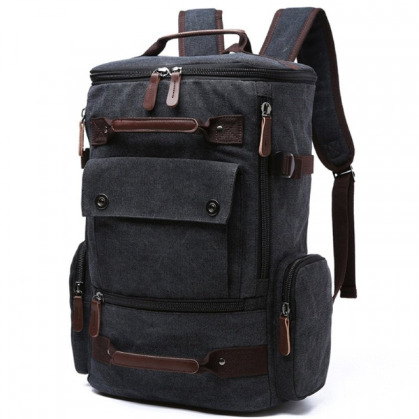 , Men Laptop Backpack 15 Inch Rucksack Canvas School Bag Travel Backpacks for Teenage Male Notebook Bagpack Computer Knapsack Bags, Urbane London, Urbane London