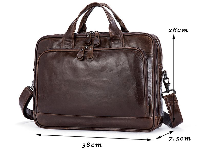 , Retro Style Messenger Bag Briefcase Document Cas Vintage Genuine Cowhide Leather Shoulder Bag, Urbane London