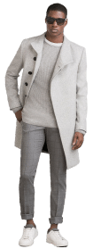 , Men's Jacket Style Cardigan Overcoat for Male, Urbane London