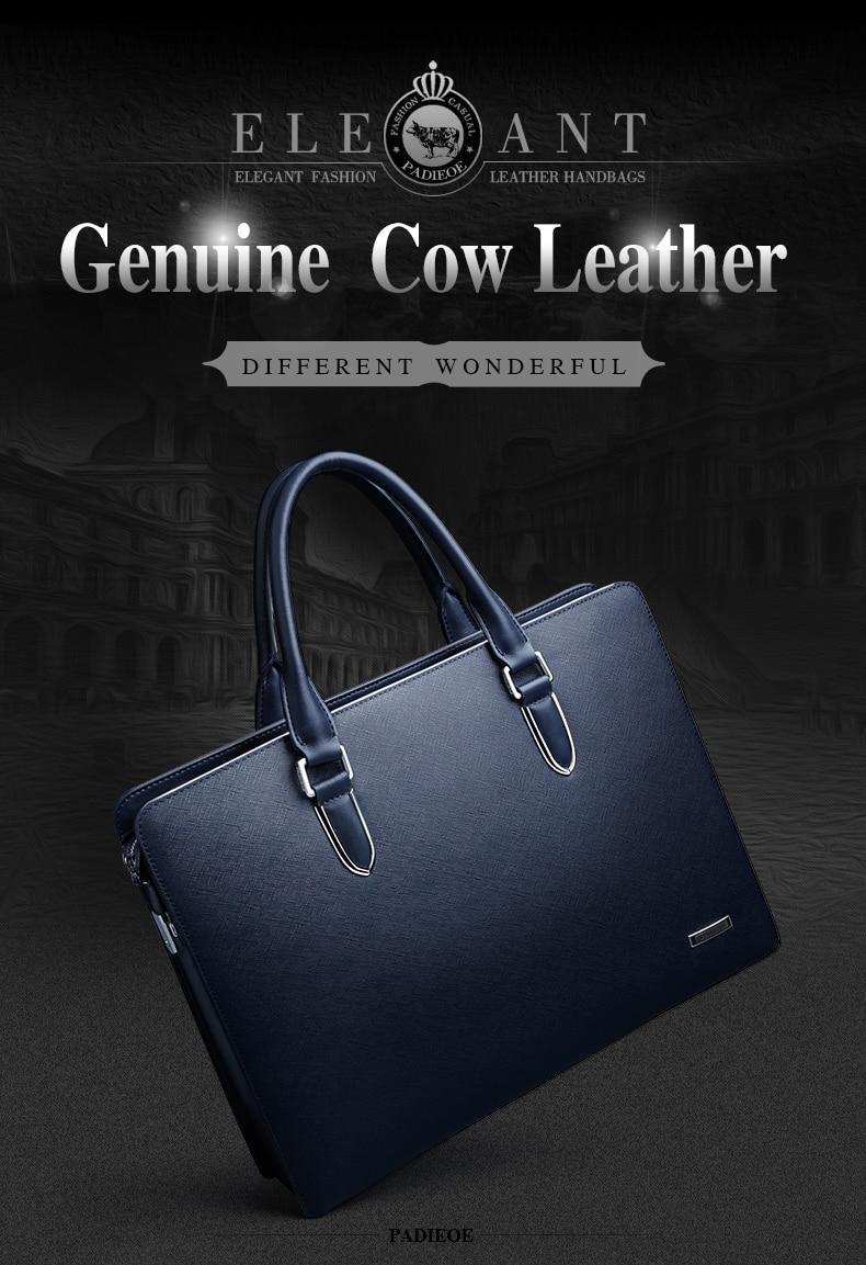 , Sleek Men's Laptop Case In Genuine Leather, Urbane London