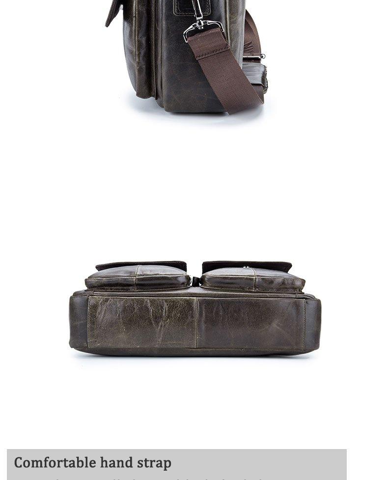 , BULL CAPTAIN – Men's leather business Computer Laptop Messenger Shoulder Bag, Urbane London