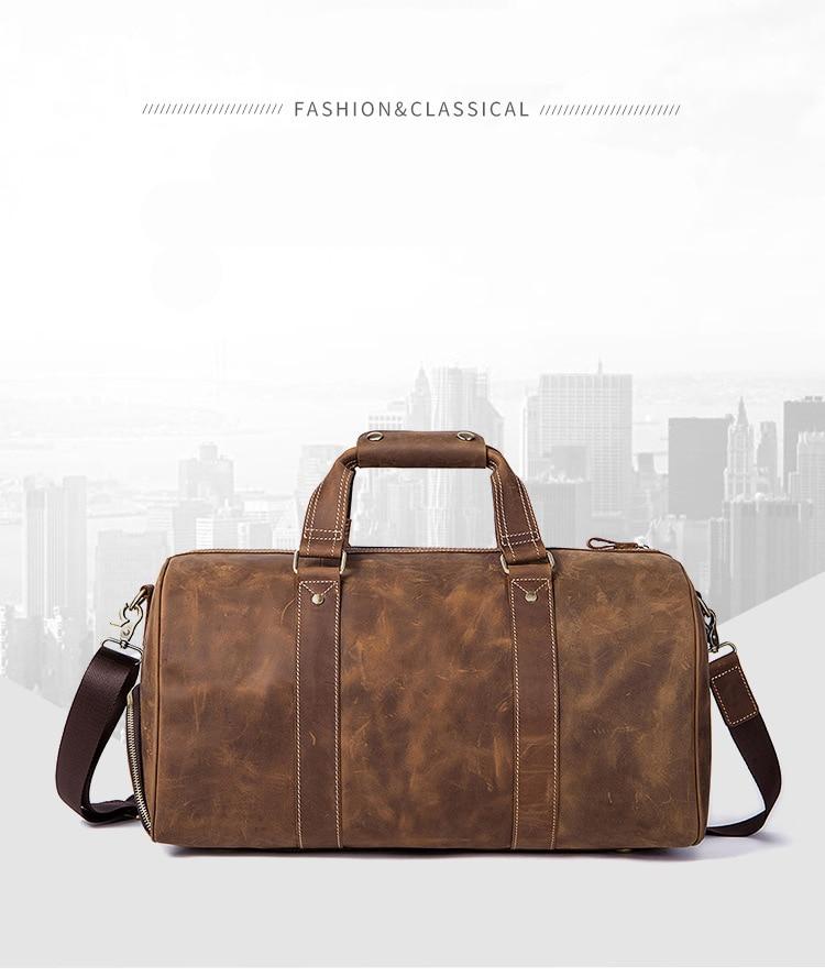 , Baillr – Genuine Leather Travel Men's Duffle Bags, Urbane London