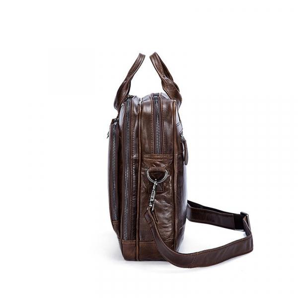 , Retro Style Cowhide Leather Laptop Shoulder Bag, Urbane London