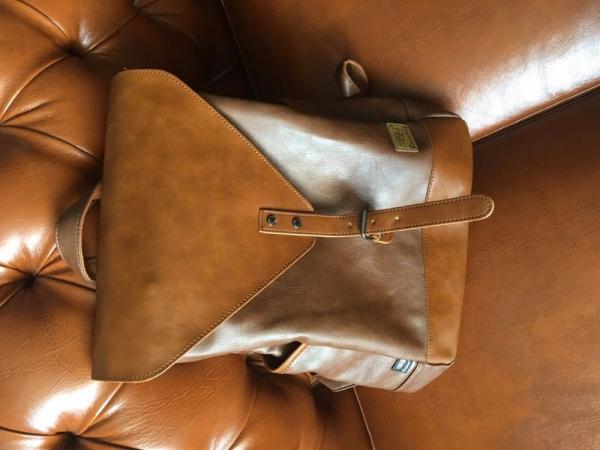 , Ladies Leather Fashion Backpack Travel Daypack, Urbane London