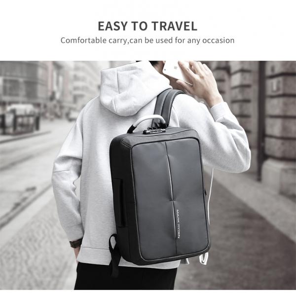 , Anti-Pickpocket Laptop Backpack with USB Charging Port and TSA Lock, Urbane London