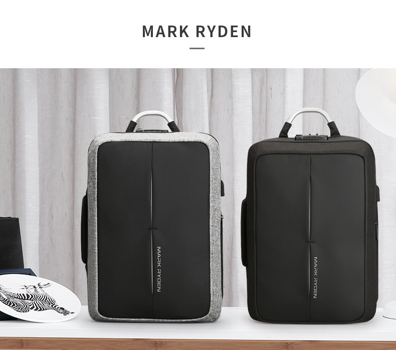 , Mark Ryden – Anti-thief USB Port Men's Backpack NO Key TSA Lock Business Fashion Travel Messenger Rucksack, Urbane London