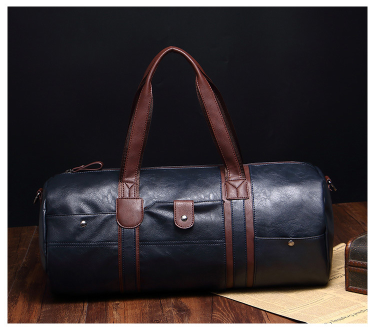 , Large Capacity Men's Travel Bag Casual Crossbody Tube Duffle, Urbane London