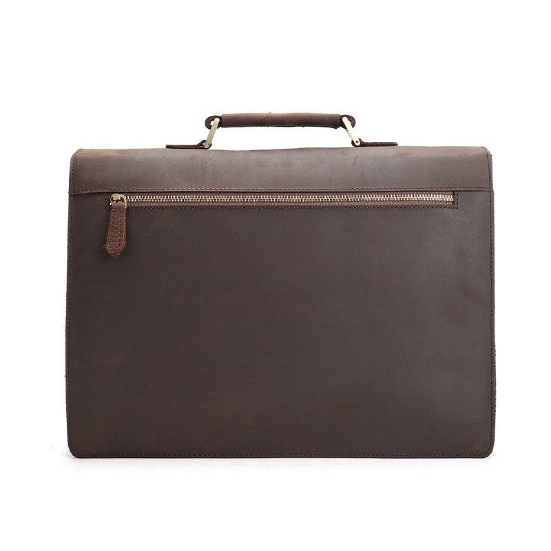 , Vintage Style Dial Locking 15 inch Laptop Briefcase, Urbane London