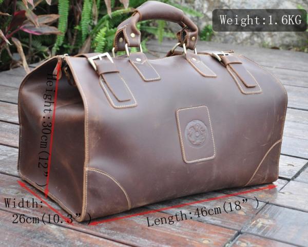 , Genuine Leather Vintage Style Men's Weekender, Urbane London