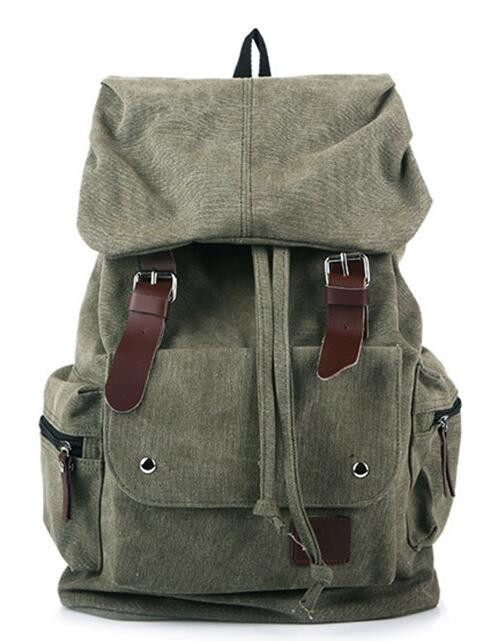 , Men's Casual Canvas Travel Backpack Vintage Style Rucksack Travel Bag, Urbane London