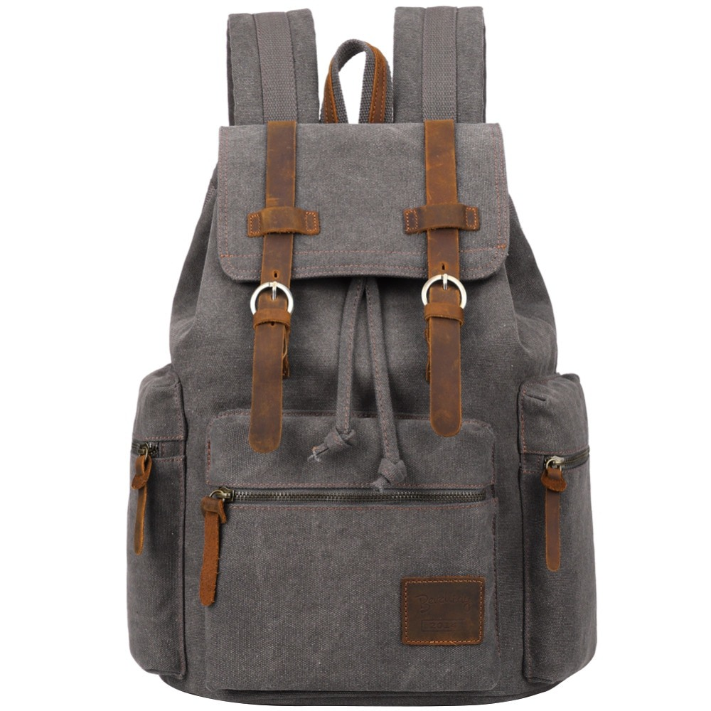 , Berchirly – Vintage Leather Military Backpacks Unisex Rucksack Travel Bag, Urbane London, Urbane London