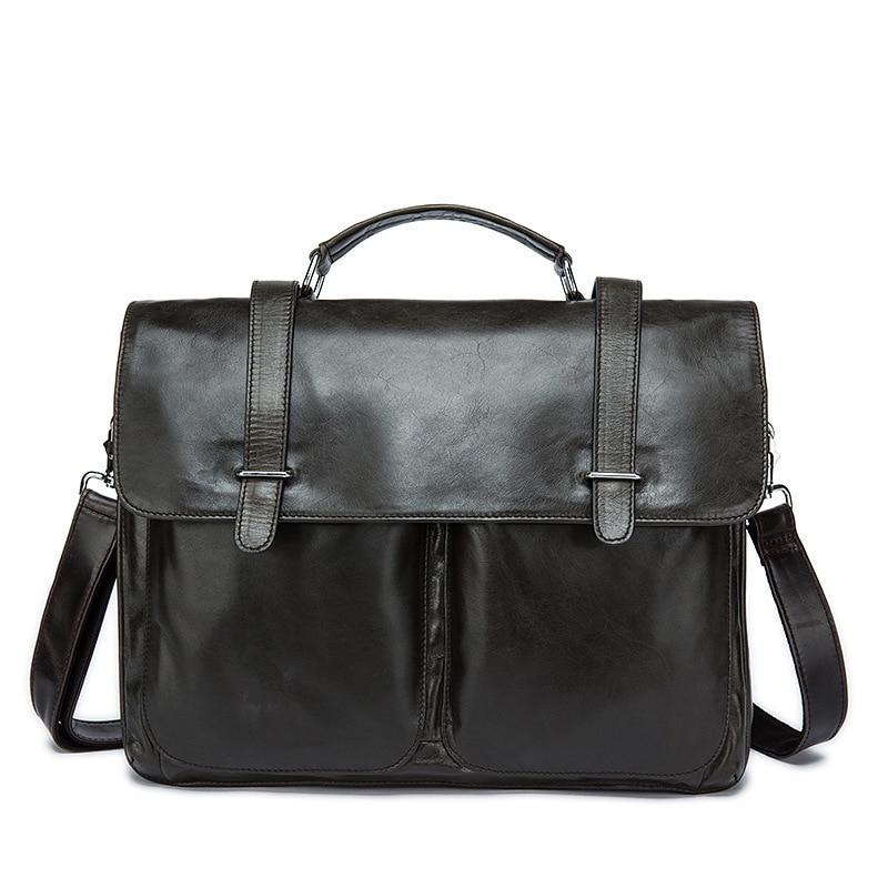 , Genuine Cowhide Bag Men's Briefcase Business laptop bag, Urbane London