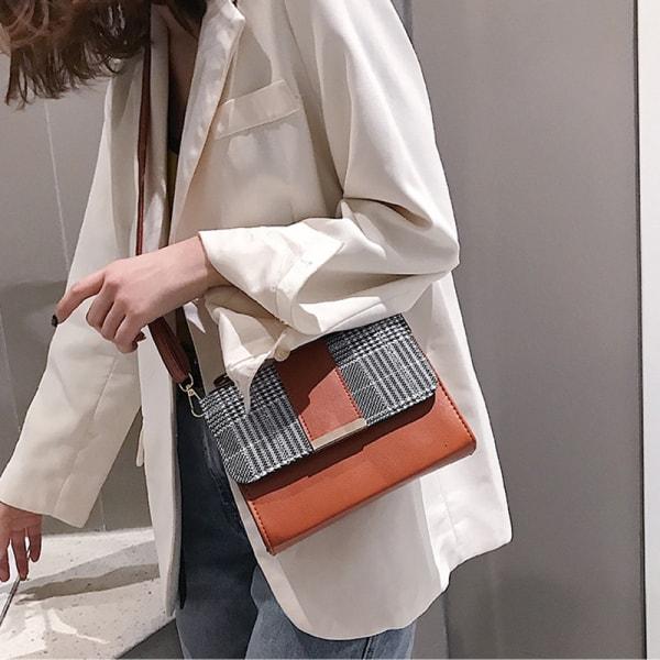 Plaid Crossbody Bag, Girls Plaid and Faux Leather Crossbody Bag, Urbane London