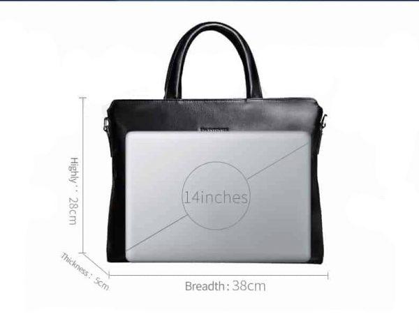 , Men's Genuine Cow Leather Business Laptop Pouch, Urbane London