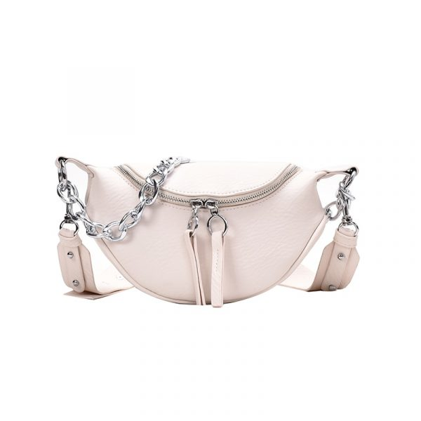 Chained Cross Body Saddle Handbag, Chained Cross Body Saddle Handbag, Urbane London