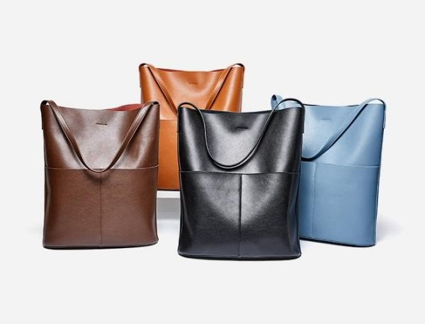 Leather Bucket Bag, Versatile Leather Bucket Bag With Included Pouch Organiser, Urbane London