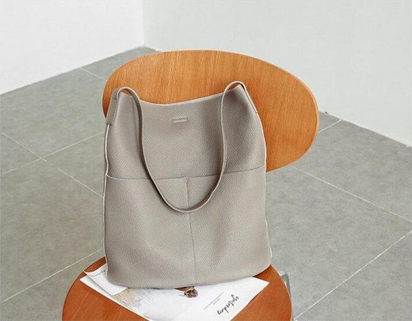 Genuine Leather Bucket, Genuine Leather Bucket Shoulder Hand Bag, Urbane London